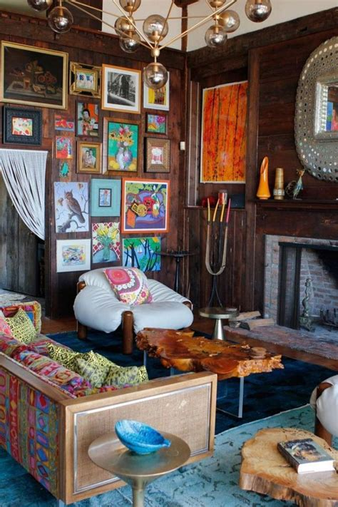 rustic eclectic room so colorful and cute with frame design ideas