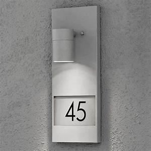 Außenleuchte Mit Hausnummer : au enleuchte hausnummer wandleuchte konstsmide modena mz ~ Buech-reservation.com Haus und Dekorationen