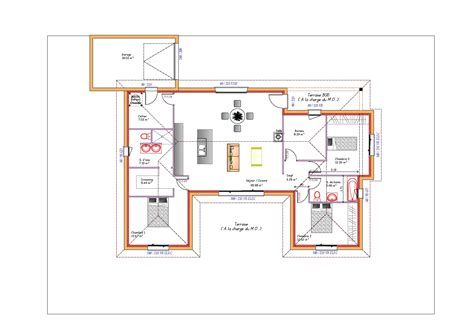 plan de maison plain pied avec garage mod 232 les et plans de maisons gt mod 232 le de plain pied inspiration en u avec garage toit plat