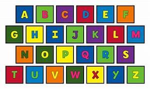 Captain creative alphabet square carpet set for Letter squares