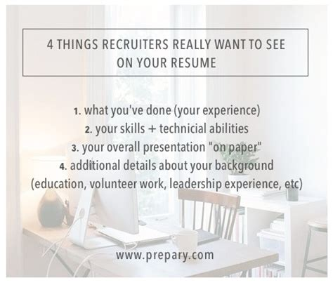 what do recruiters look for in a resume at glance