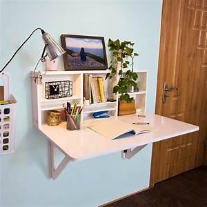 Küchentisch Mit Regal : sobuy wandklapptisch mit integriertem regal k chentisch schreibtisch fwt07 w ~ Orissabook.com Haus und Dekorationen