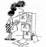 Cabinet Cartoon  Messy Vector Clip Coloring Clipart Drawing Businesswoman Filing Cabinets Outlined Getdrawings Clipartbarn Related Leishman Ron sketch template