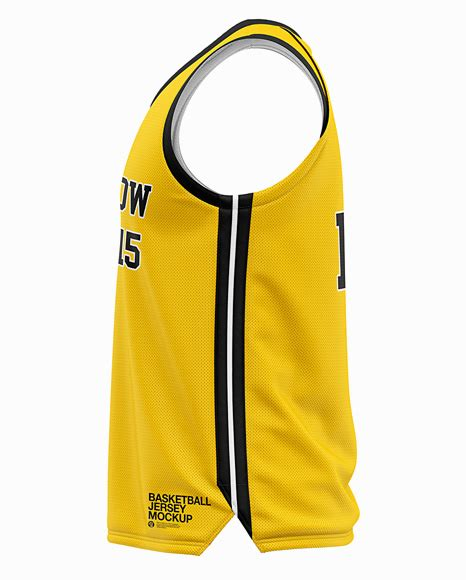Womens heather sport shorts back view jersey mockup psd file 180.48 mb. Men's Basketball Jersey Mockup - Side View in Apparel ...