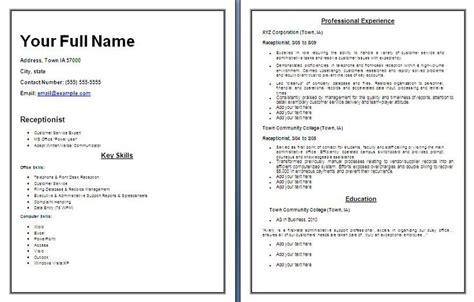 Chronological Resume For Receptionist by Best 25 Chronological Resume Template Ideas On