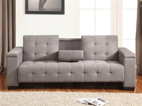 microfibre canapé canapé clic clac 3 places devonshire avec tablette
