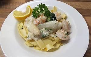 Pasta Mit Garnelen : pasta mit spargel und garnelen rezept mit bild von luckytina ~ Orissabook.com Haus und Dekorationen