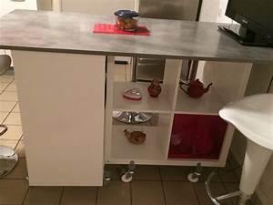 Table Rangement Cuisine : table lot de la cuisine de corine avec kallax ~ Teatrodelosmanantiales.com Idées de Décoration