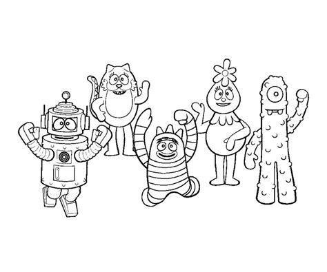 printable yo gabba gabba coloring pages coloringstar