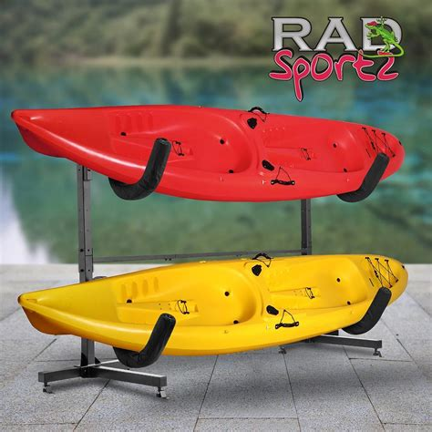 kayak racks rad sportz indoor outdoor freestanding heavy