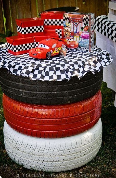 Disney Cars Birthday Used Tire Idea See More Birthday