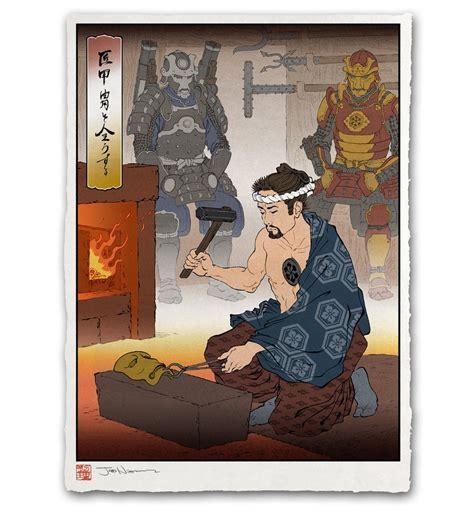Jed Henry's Ukiyo-e and Pop-Culture Woodcuts – YBMW
