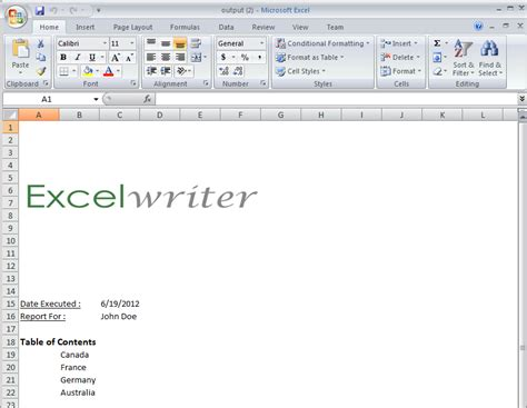 part 2 creating a cover sheet excelwriter v8 docs