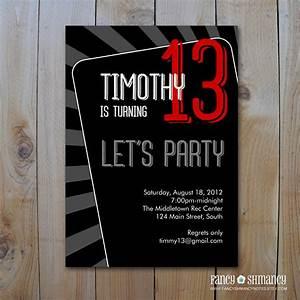 Teen Boy's Birthday Invitation / Let's Party