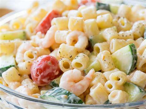 recette de cuisine froide recettes de salade de pâtes et crevettes