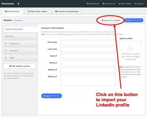 convert  linkedin profile   beautiful resume
