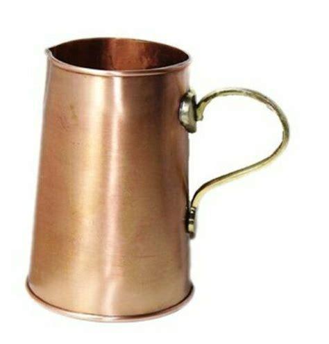 solid hand  pure copper jug pitcher  water ayurveda health benefit vasal unbranded