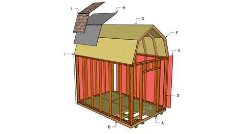 free gambrel shed plans how to build diy blueprints pdf