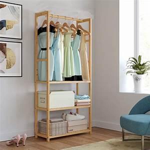 ubesgoo, bamboo, clothing, garment, rack, entryway, coat, shoe, rack, 3