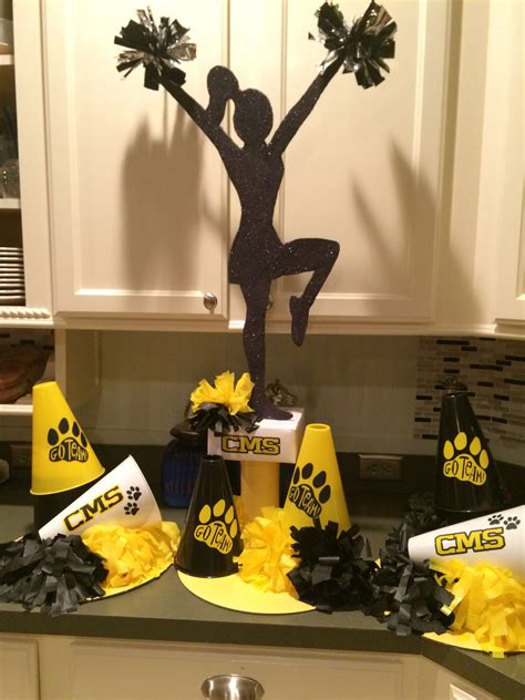 cheer decorations cheer centerpieces for cms cheer c cheerc