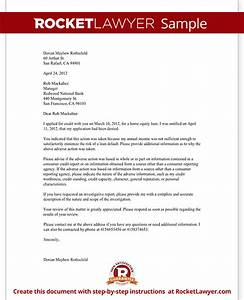 letter challenging a credit denial with sample With loan denial letter template