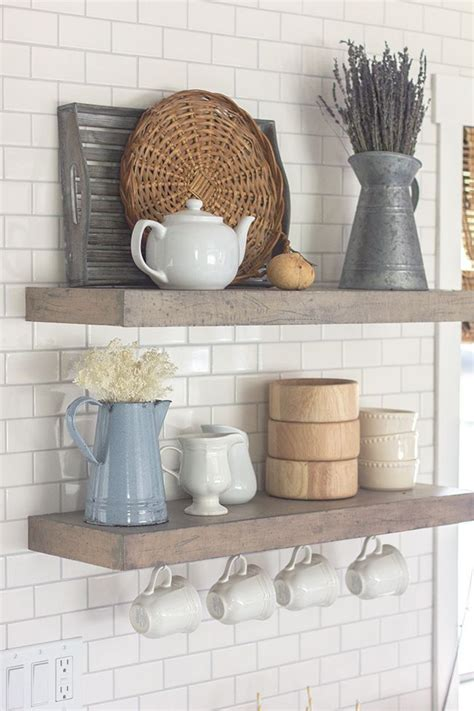 Spring Home Tour (& A Giveaway!)  Kitchen Shelves, Modern