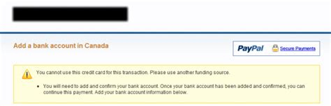 """We did not find results for: online payment - PayPal wants me to """"add a bank account"""", another funding source. Credit card ..."""