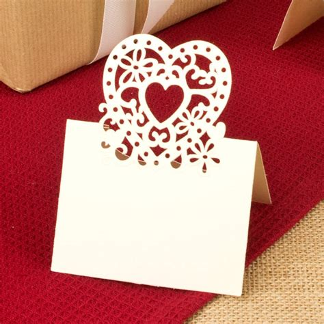 set of 10 paper name place cards by dibor