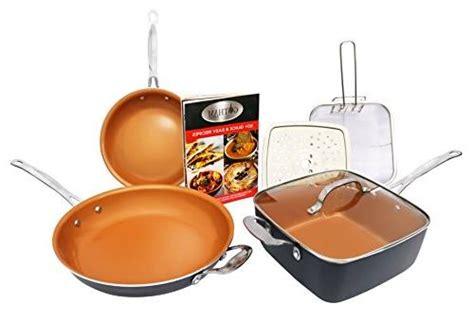 copper chef  piece cookware set heavy duty p