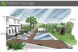 stunning jardin paysager contemporain photos awesome With awesome jardin avec piscine design 3 amenagement jardin contemporain aix en provence