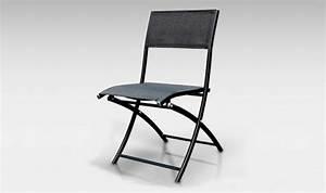 Chaise De Jardin Gifi : chaise de jardin pliante alu textilene dcb noir mat ~ Dailycaller-alerts.com Idées de Décoration