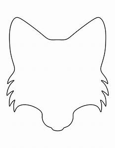 fox face pattern use the printable outline for crafts With template of a fox