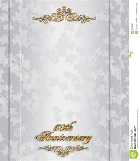 50th Anniversary Invitation Stock Photography Image: 9686182
