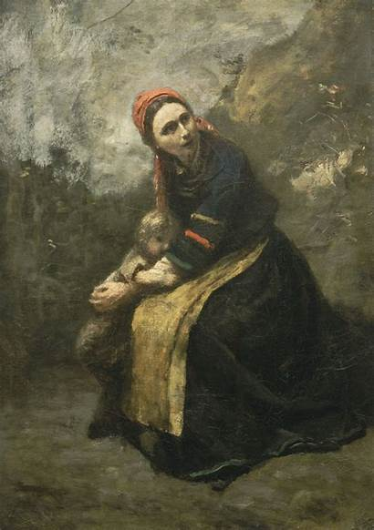 Protecting Mother Child Corot 1858 1855 Commons