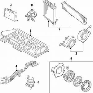 2013 Volkswagen Jetta Hybrid Drive Motor Battery Pack