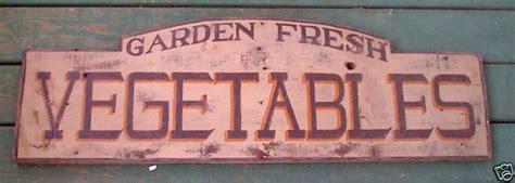 Garden Fresh Vegetables Primitive Wooden Country Sign