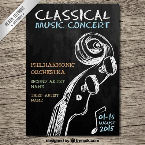 concert flyer template 24 chalkboard flyers free psd ai eps format free premium templates