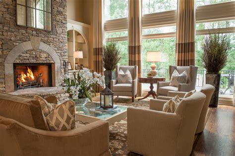 alpharetta ga residence traditional living room