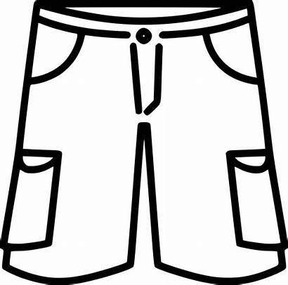 Shorts Clipart Svg Pants Basketball Transparent Outline