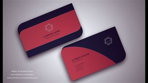 illustrator tutorial business card design  youtube