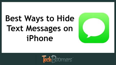 to hide your messages on iphone best ways to hide text messages on iphone
