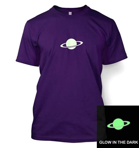 saturn small glow in the t shirt somethinggeeky