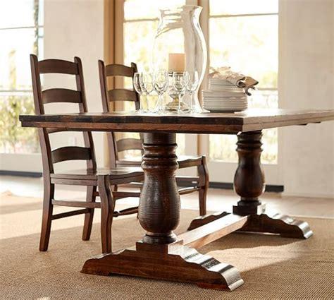pottery barn kirkwood dining table bowry reclaimed wood fixed dining table pottery barn