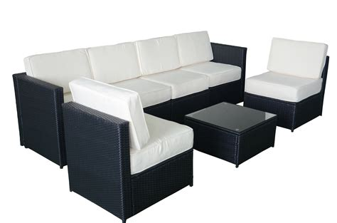 mcombo 7pcs black wicker patio sectional outdoor sofa