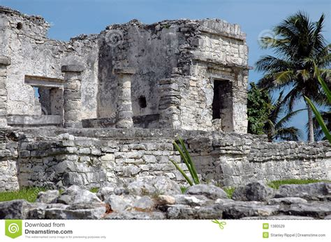 Ancient Mayan Building In Tulum, Mexico Royalty Free Stock