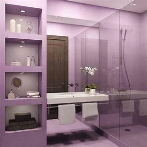 15, Charming, Purple, Bathroom, Ideas