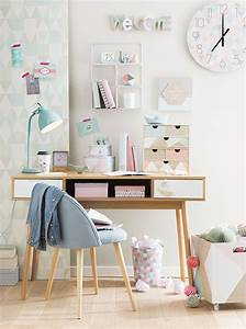 Une deco de bureau girly en rose cuivre chez maisons du for Attractive commentaire faire une couleur beige 7 chambre en bleu et blanc