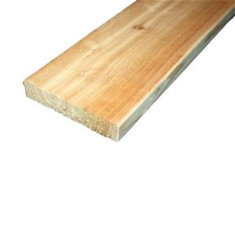 cedar wood planks home depot 5 4 in x 6 in x 10 ft premium radius edge cedar lumber st0510510 the home depot