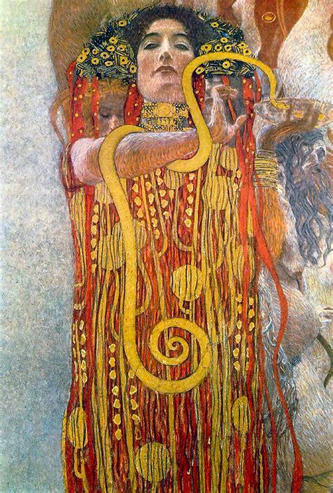 Klimt La by Hygeia Goddess Of Health Official Symbol Was A