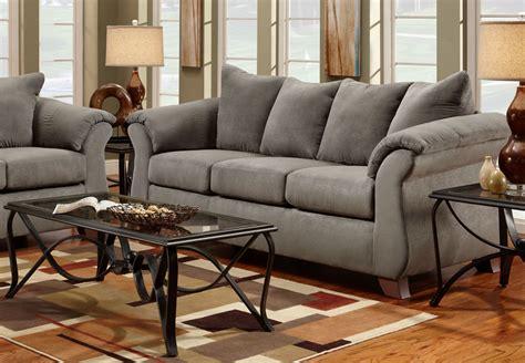 affordable furniture sensation grey microfiber queen